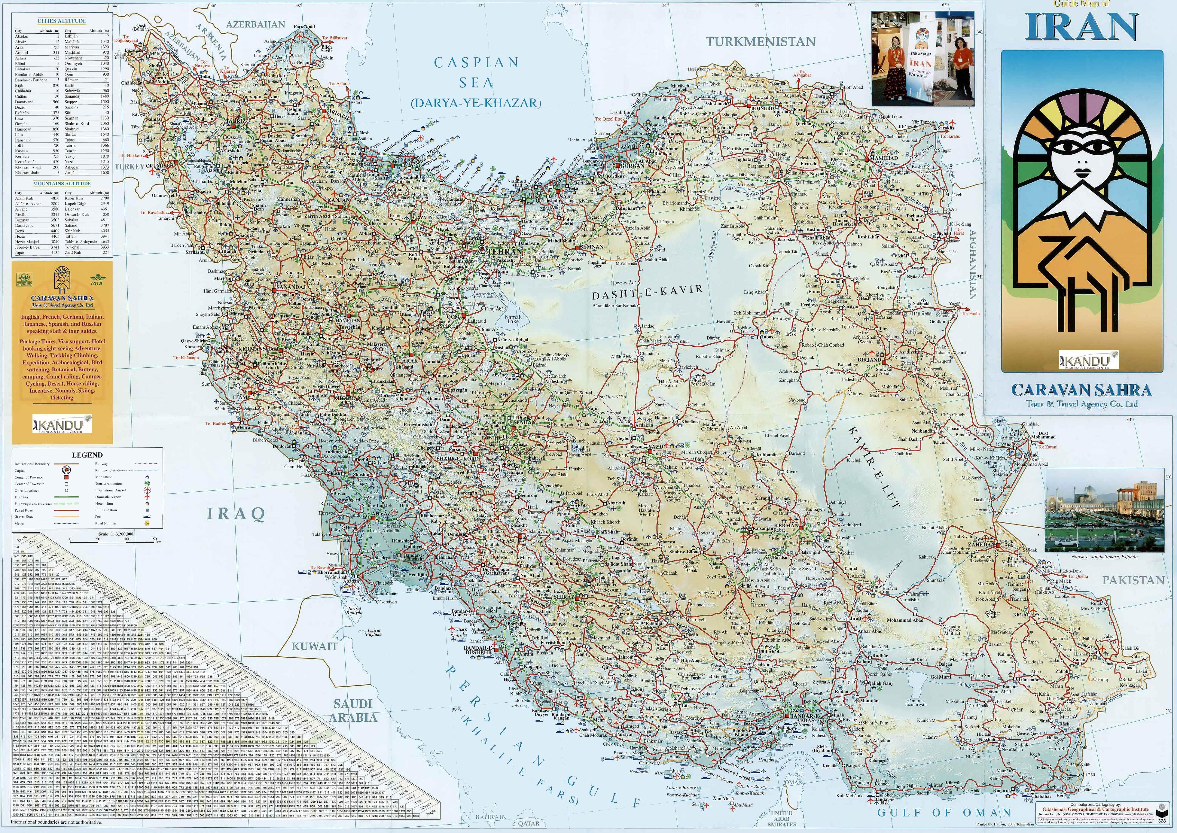 Road Map Of Iran - Map of iran