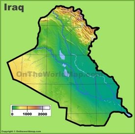 Iraq physical map