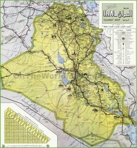 Iraq tourist map