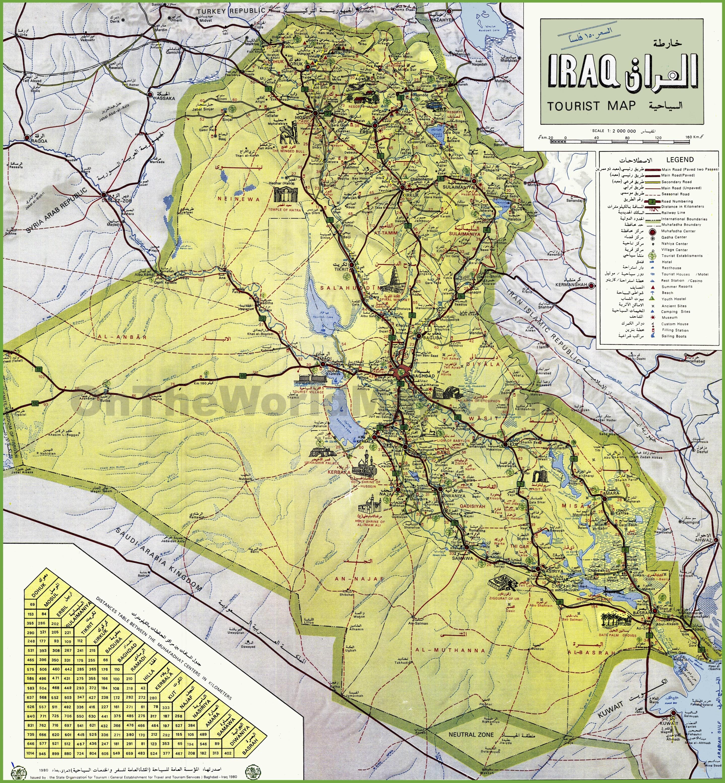 Iraq tourist map