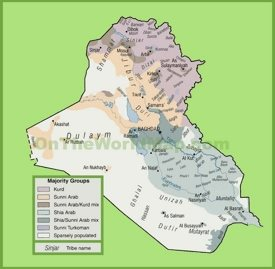 Map of ethnic groups in Iraq