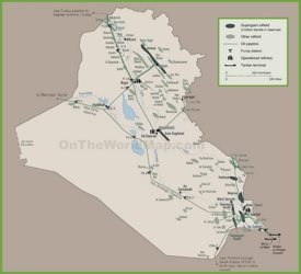 Map of oil infrastructure in Iraq