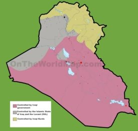 War devision territories map of Iraq