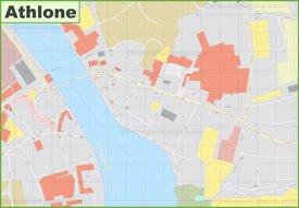Athlone city center map