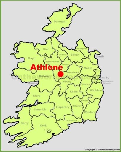 Athlone Location Map