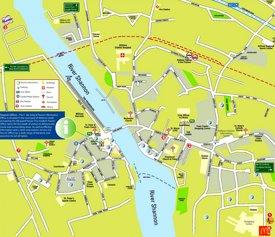 Athlone tourist map