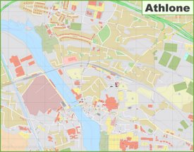 Large detailed map of Athlone