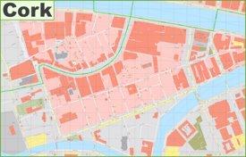 Cork city center map