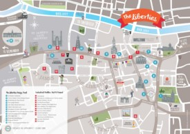 Dublin Libierties tourist attractions map