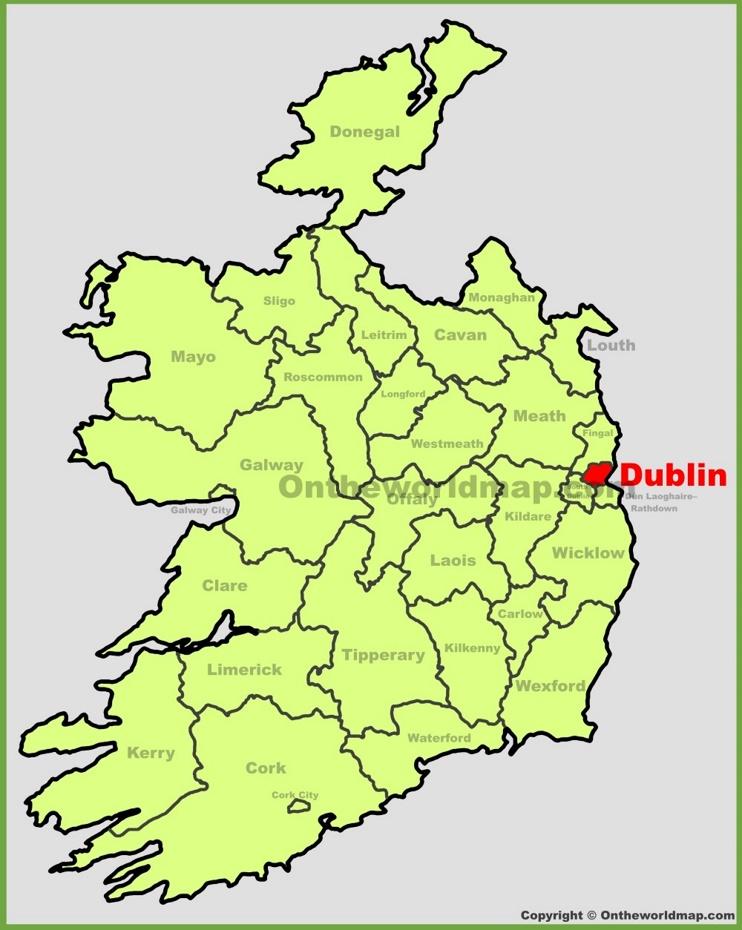Dublin location on the Ireland map