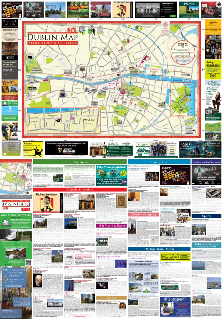 Dublin tourist attractions map