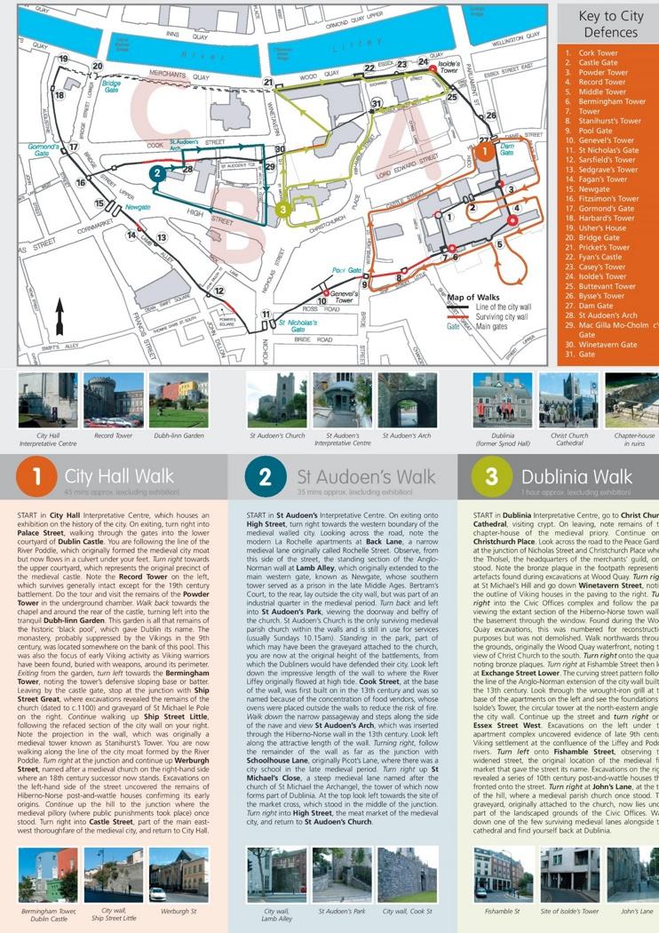 Medieval walk map