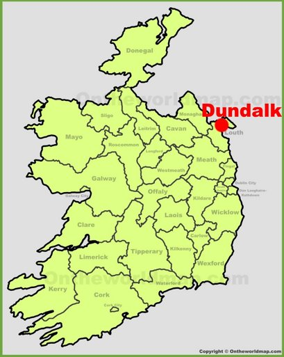 Dundalk Location Map