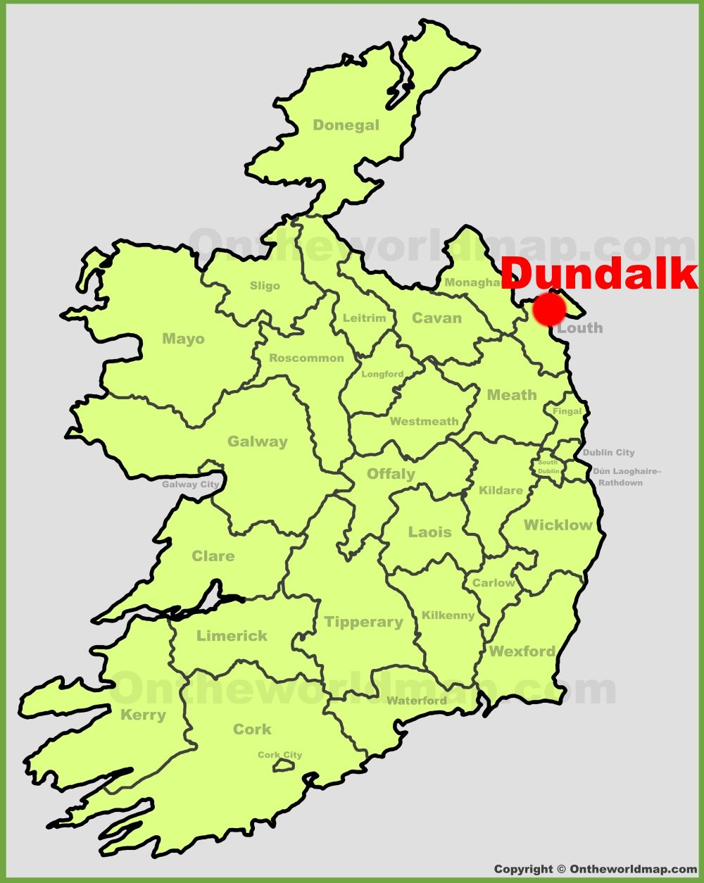 Dundalk Map Of Ireland.Dundalk Location On The Ireland Map