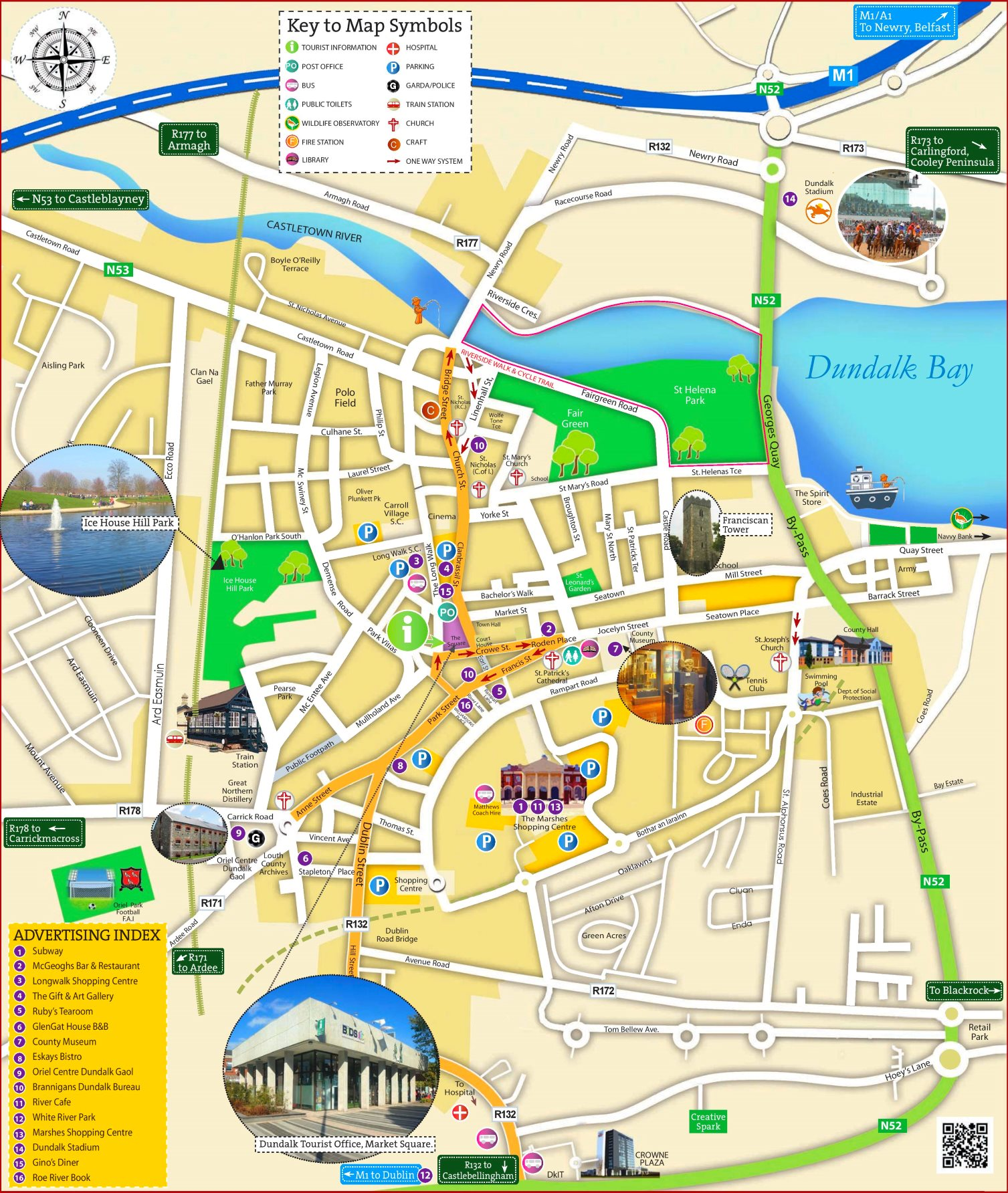 Map Of Ireland Dundalk.Dundalk Tourist Map