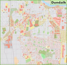 Large detailed map of Dundalk