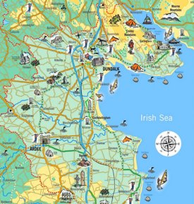 Tourist map of surroundings of Dundalk