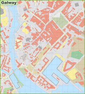 Galway city center map