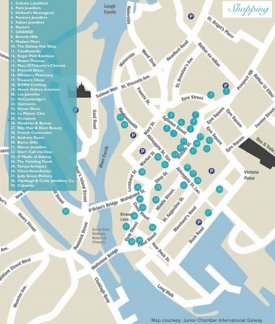 Galway shopping map
