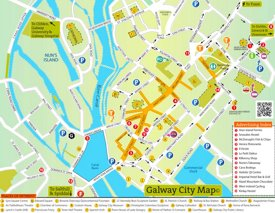 Galway sightseeing map