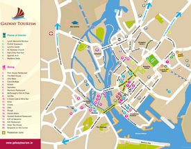 Galway tourist map