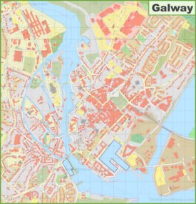 Large detailed map of Galway