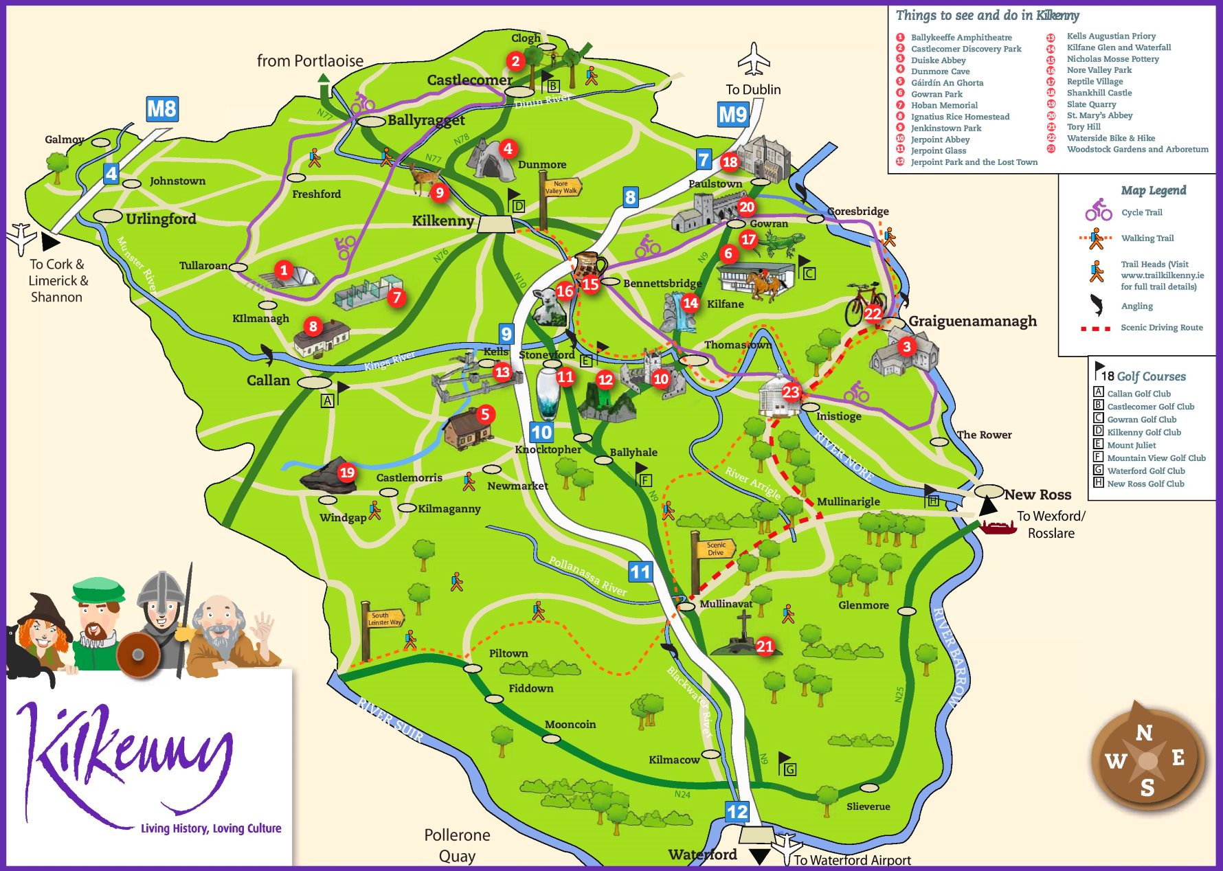 Tourist Map Of Surroundings Of Kilkenny