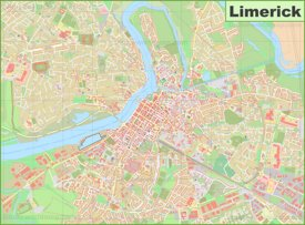 Large detailed map of Limerick