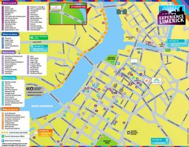 Limerick hotels and sightseeings map
