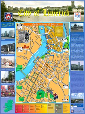Limerick tourist map