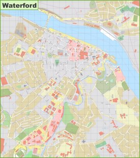 Large detailed map of Waterford