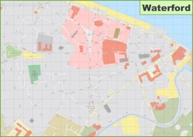 Waterford city center map