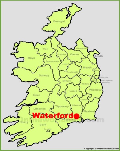 Waterford Location Map