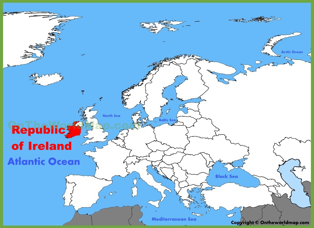 Ireland Location On The Europe Map