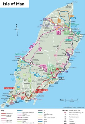 Isle of Man bus map