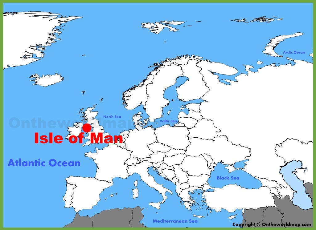 Isle of Man location on the Europe map