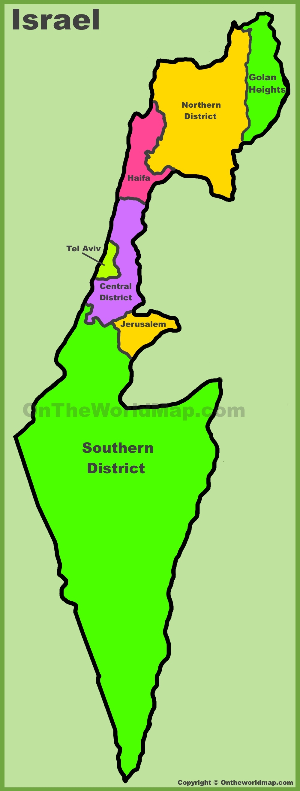 Administrative map of Israel