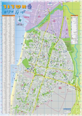 Ashdod tourist map