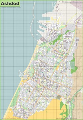 Large detailed map of Ashdod