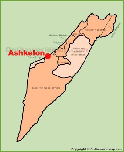 Ashkelon Location Map