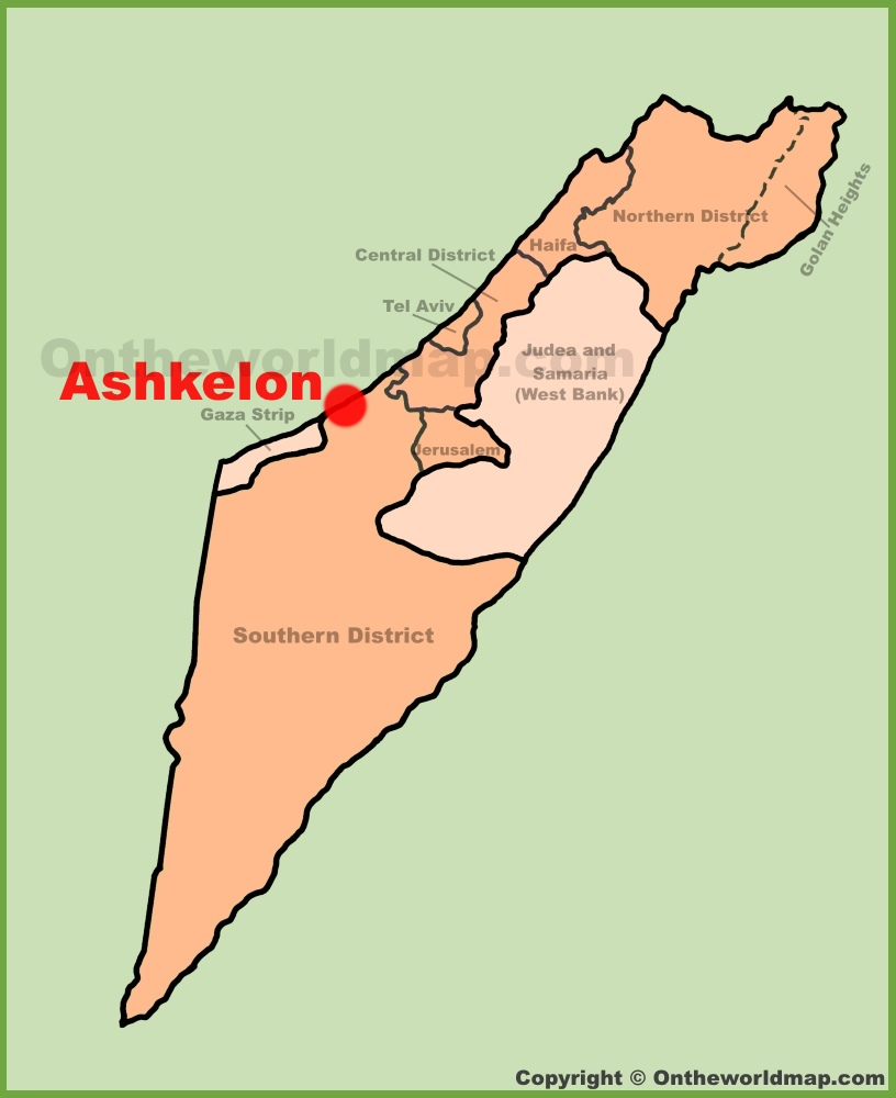 Ashkelon Maps Israel Maps of Ashkelon