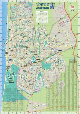 Ashkelon tourist map
