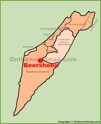 Beersheba Location Map