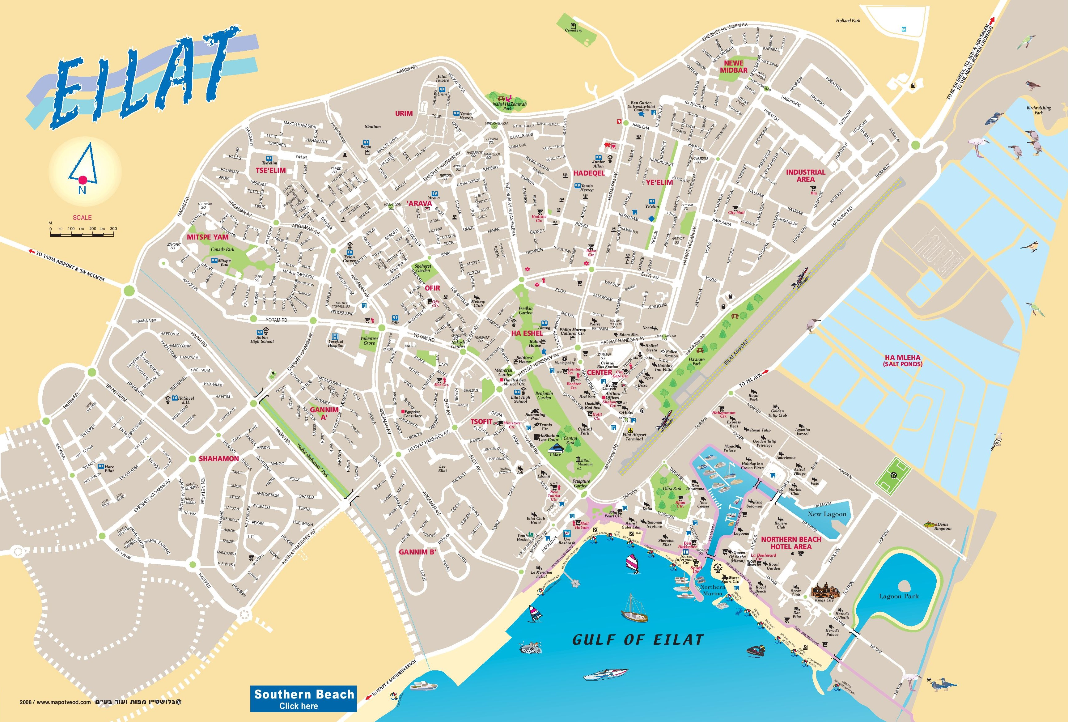 Eilat tourist map