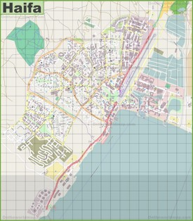 Large detailed map of Eilat