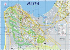Haifa sightseeing map