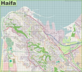 Large detailed map of Haifa