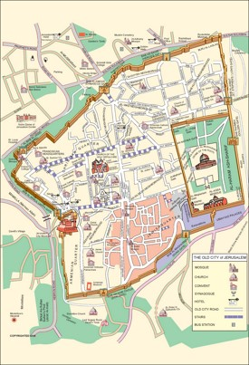 Jerusalem city center map