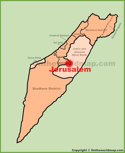 Jerusalem Location Map