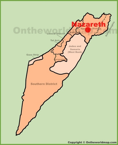 Nazareth Location Map